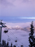 Chair Lift in the Early Morning, 2010 Winter Olympic Games Site, Whistler, British Columbia, Canada Photographic Print by Aaron McCoy