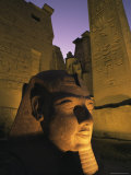 Statue of the Pharaoh Ramses II at Entrance to the Temple of Luxor, Thebes, Egypt, North Africa Photographic Print by Nico Tondini