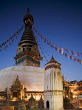 Swayambhunath Buddhist Stupa on a Hill Overlooking Kathmandu, Unesco World Heritage Site, Nepal Photographic Print by Don Smith