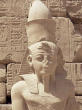 Statue of the Pharaoh Ramses II, Karnak Temple, Thebes, Unesco World Heritage Site, Egypt Photographic Print by Nico Tondini