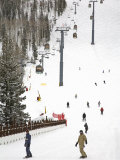 Lions Head Village Ski Run, Vail Ski Resort, Rocky Mountains, Colorado, USA Photographic Print by Richard Cummins