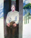 Prisoner from Amnesty International, 1977 (#56) Samlertryk af David Hockney