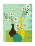 Damask Daisies Prints
