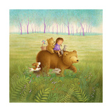 Going on a Picnic with Mama Bear Premium Giclee Print