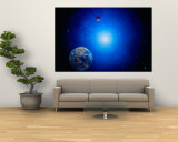 Earth and Sun Wall Mural by Ron Russell