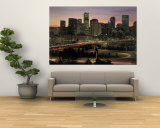 Skyline at Sunrise, Denver, CO Wall Mural by Tom Dietrich