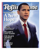 Barack Obama, Rolling Stone no. 1048, March 2008 Photographic Print by Tim O&#39;Brien