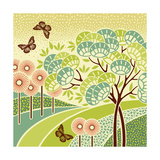 Hazy Day Butterflies Posters