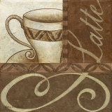 Latte Cafe II Prints by Jane Carroll