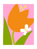 Bright Flower and Butterfly Posters