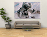 Astronaut Walking in Space Wall Mural by David Bases