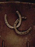 Lucky Horse Shoes on Rust Metallic Photographie