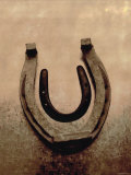 Lucky Horse Shoe on Dusty Rose Metallic II Print