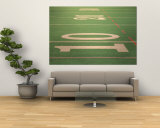 The Ten Yard Line on a Football Field Wall Mural by Kindra Clineff