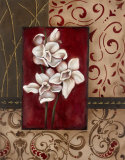 Stylized Orchid I Prints by Carol Robinson