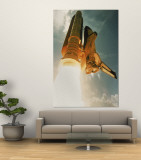 Space Shuttle Lifting Off Wall Mural by David Bases