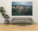 Dunluce Castle on Cliff, Northern Ireland Wall Mural by Pat Canova