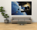 Space Shuttle and Earth Premium Wall Mural by David Bases