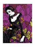Woman in Violet Posters
