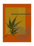 Leaf Abstract Goldenrod Prints
