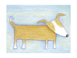 Hopeful Doggie - Crayon Critter I Print