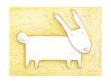 Pensive Bunny - Crayon Critter III Poster