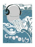 Groovy Octopus Poster