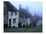 "Street of ""Gold Hill"" Shrouded in Fog, Shaftesbury, Dorset, England Photographic Print by Jan Stromme"
