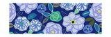Blue Flower Swirls Posters