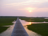 Boardwalk Sunset Photo