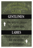 Salle de bain Poster par Marilu Windvand