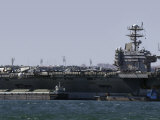 USS Carl Vinson in Lisbon Photographic Print by Stocktrek Images