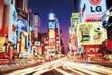 Times Square la nuit à New York Poster