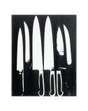 Knives, c.1981 (black and white) Prints by Andy Warhol