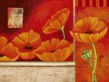 Vermillon d'Anemones Posters by Sylvi Pasquier
