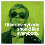 Tout le monde, en anglais Reproduction procédé giclée par Andy Warhol