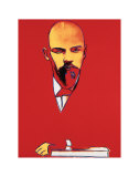 Red Lenin, c.1987 Arte por Andy Warhol
