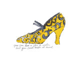 Yellow Pattern Shoe, c.1955 Kunst von Andy Warhol