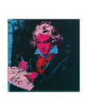beethoven  c 1987  red face  prints by andy warhol