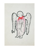 Angel, c.1965-1985 (red with halo) Prints by Andy Warhol