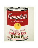 Campbell's Soup Can, c.1962 (Old Fashioned Tomato Rice) Pósters por Andy Warhol