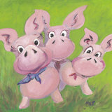 The Three Little Pigs Prints by Nat 