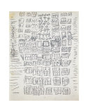 NYC Street Map, c.1949 Prints by Andy Warhol