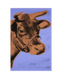 Andy Warhol - Cow, c.1971 (Purple and Orange) - Reprodüksiyon
