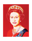 Reigning Queens: Queen Elizabeth II of the United Kingdom, c.1985 (Light Outline) Poster di Andy Warhol