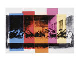 Laatste avondmaal (detail), ca. 1986 Print van Andy Warhol