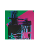 Brooklyn Bridge, c.1983 (Green, Blue, Pink) Lminas por Andy Warhol