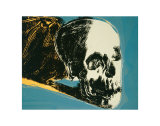 Andy Warhol - Skull, c.1976 (yellow on teal) Obrazy