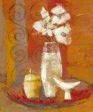 Bouquet a la Coupe Blanche Poster par Regine Pivier-Attolini