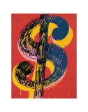 Dollar Sign, c.1981 (black and yellow on red) Láminas por Andy Warhol